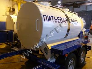 Пищевая прицеп-цистерна 2300 литров.