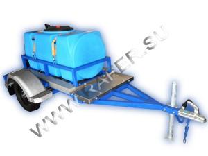 Прицеп-цистерна_пластиковая_500 литров_для перевозки пищевых жидкостей_воды