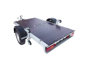 Прицеп - складной, Rafer, Рафер, Танко, для мототехники. Шатура, Керва. Предназначен для перевозки техники (мотоцикла, квадрацикла) и грузов массой до 550 кг.